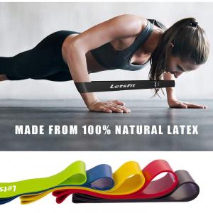 Letsfit Bandas de resistencia para ejercicios fitness en casa